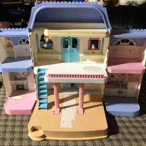 Vintage Fisher Price Dollhouse + Accessories